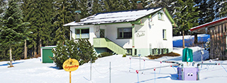 Holiday homes and ski chalets on piste in Germany